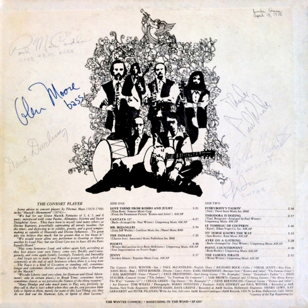 Something In The Wind, 1969 (signed back cover)