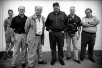 Paul English, Dave Liebman, Ed Calle, Dennis Dotson and company outside the Corpus Christi studio.